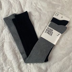 NWT pair of over the knee socks